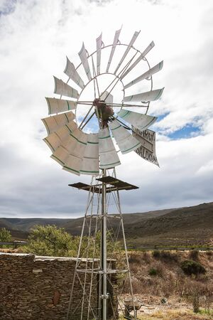 The windmill on a field in the Karoo. photo