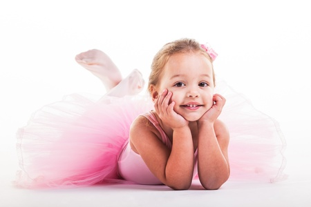ballet: Look at the uncle with the camera and smile.