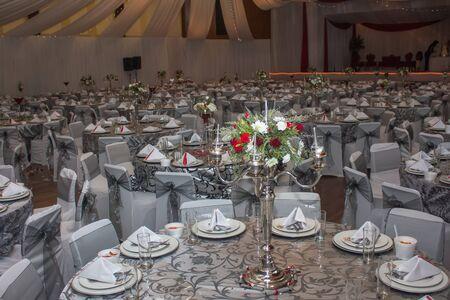 The wedding venue for a muslim wedding.