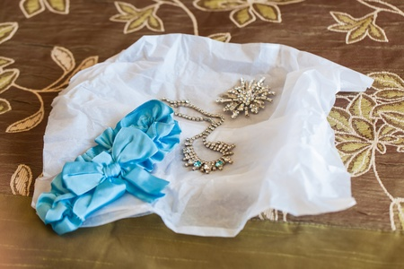 The accessorize of the bride on her wedding day. Stock Photo - 16022290