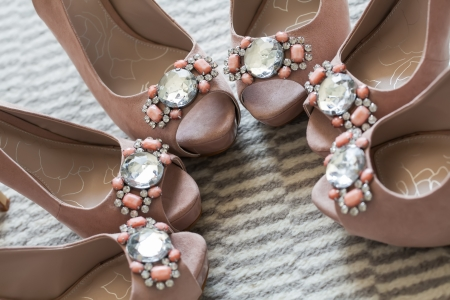 bridesmaids: Three of the same pairs of shoes for the special girls.