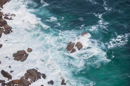 Dangerous, deep, and dark are the water in Cape Town. photo