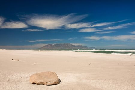 Picture taken from the beach of Blouberg beach  photo