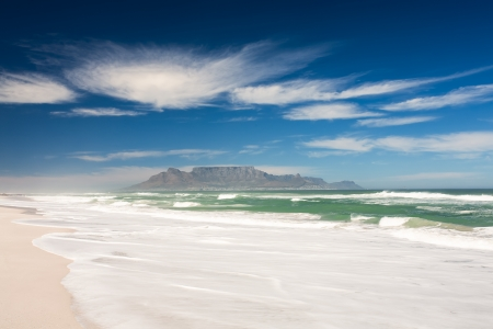 Picture taken from the beach of Blouberg beach  Stock Photo