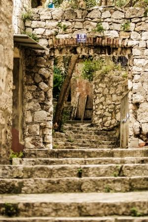 Beautiful rock steps in a street in Croatia. Stock Photo - 17579595