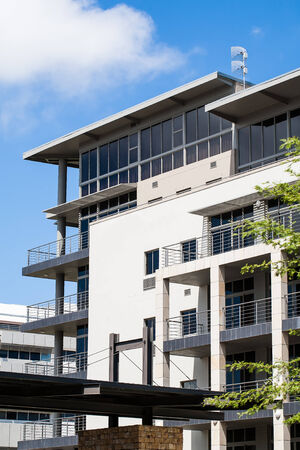 a modernised company building viewed from a distance