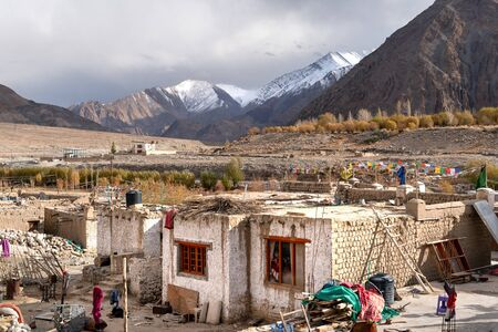 The small village on the way to Leh