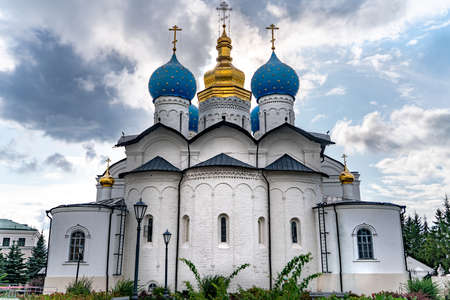The old ancient Cathedral of the Annunciation in kazan kremlin