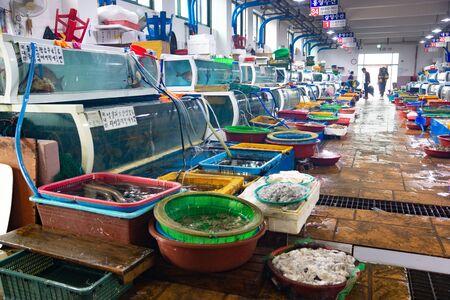Seoul/South Korea-30.09.2016:Inside the fish market in South Korea