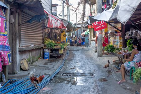 Philippines-28.11.2016:The local street in small philippine town