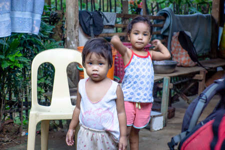 Philippines-28.11.2016:The little kids on the street on Philippines