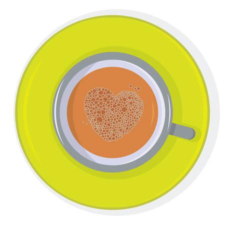 chocolat chaud: Tasse de chocolat chaud avec la forme de c?ur