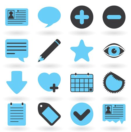 Blog Icons Part Of Internet Icons Series Stock Vector - 10312557
