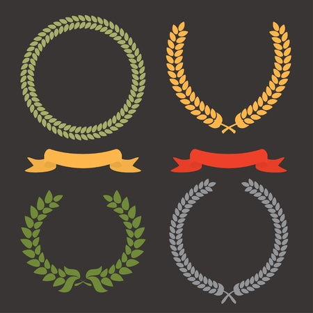 Laurel Leaf Wreath Vector