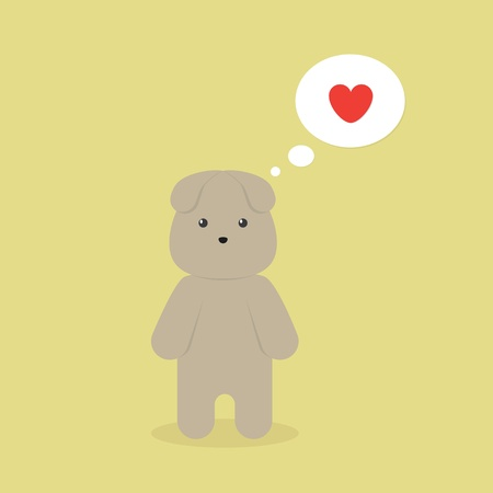 about you: Cute Cartoon Little Pet Thinking About You
