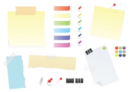 Paper Notes And Post-It Stickers Vector