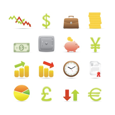 Finance And Business Icons Set Stock Vector - 12269164