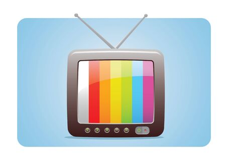 TV Icon With Test Panel Screen Fully Editable Stock Vector - 12756943