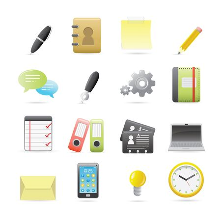 pocket book: Office Icons Set Series For Your Website Or Application