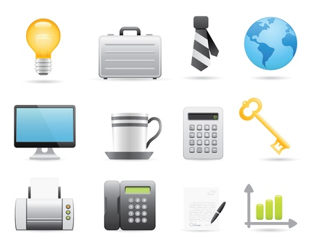 business bag: Business Icons Set For Your Application Or Web Site