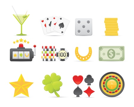 roulette wheel: Gambling Icons For Your Application Or Web Site