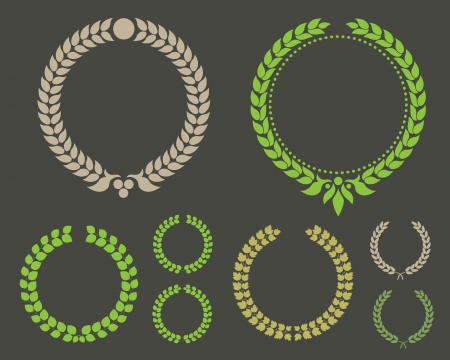 laurel leaf: Laurel Leaf Wreath Winner Set