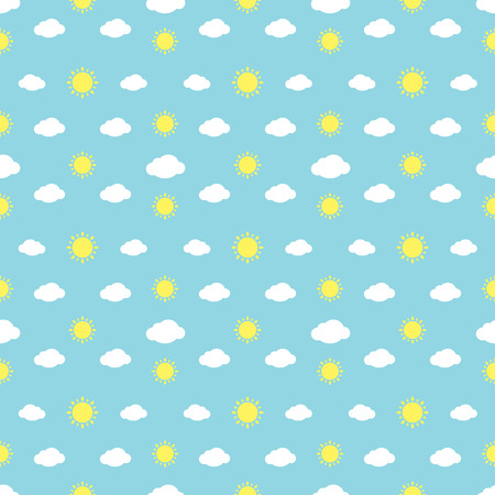prognosis: Weather Signs Seamless Pattern Background
