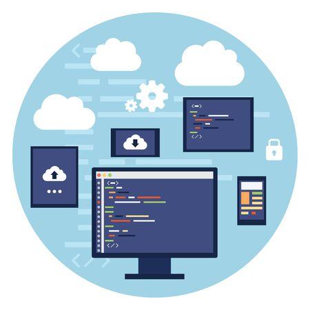 editor: Code Editor Digital Devices Monitor Screen