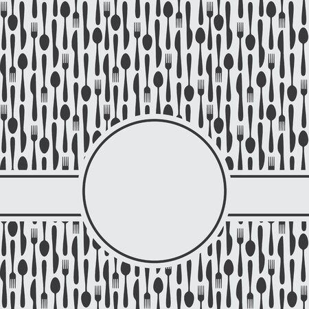 Kithen Cutlery Symbols Menu Background Ilustração