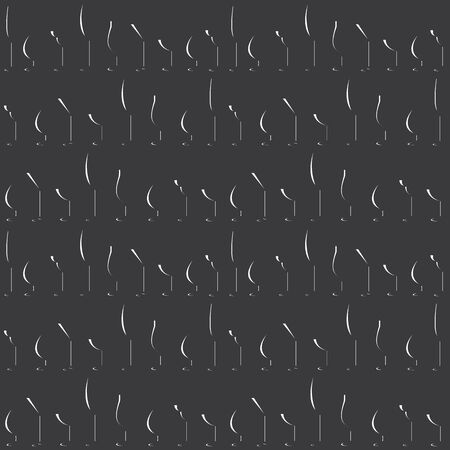 bocal: Seamless Glass Silhouette Pattern