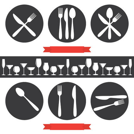 menu icon: Cafe Icons Cutlery And Glasses