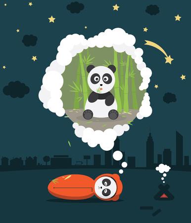 sweet dreams: Sweet Dreams Panda Under The Stars