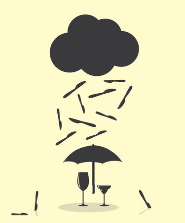 raining: Raining Like Knife Kitchen Cutlery