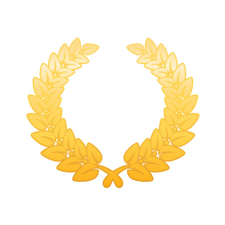 laurel leaf: Anniversary Golden Laurel Leaf Wreath