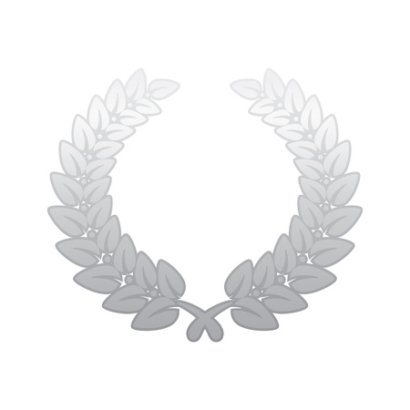 laurel leaf: Anniversary Silver Laurel Leaf Wreath