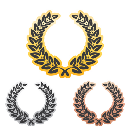laurel leaf: Anniversary Laurel Leaf Wreath Set