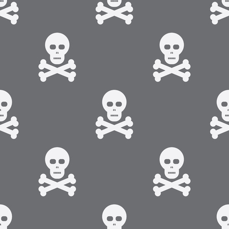 scull: Seamless Scull And Bones Pattern Background Illustration