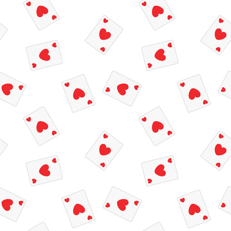 seamless tile: Seamless Playing Cards Hearts Suit Pattern Background Tile