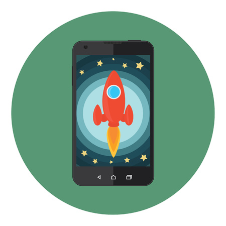 booster: Mobile Phone Fast Space Rocket