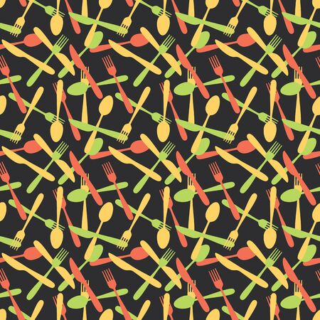 silverware: Seamless Cutlery Kitchen Silverware Pattern Background