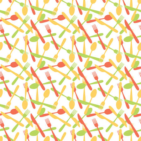 silverware: Seamless Cutlery Silverware Pattern Background Illustration