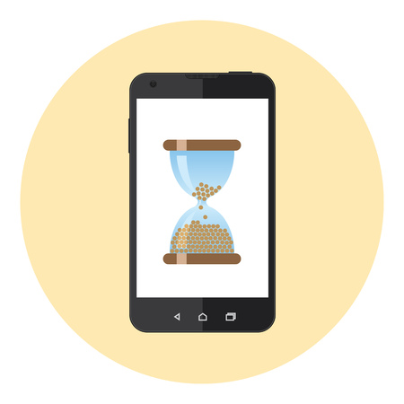 countdown: Mobile Phone Hourglass Countdown Clock