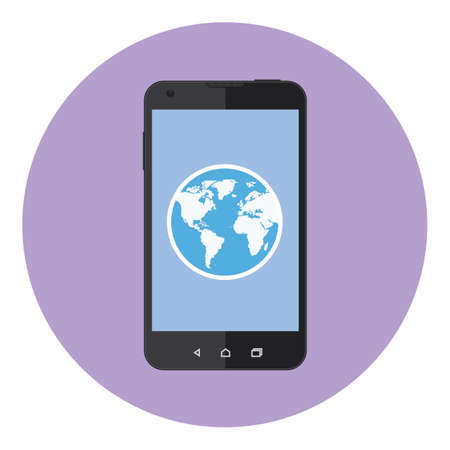 global communication: Mobile Phone Earth Global Communication