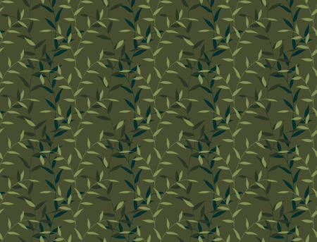 camo: Seamless Leaves And Branch Floral Camo Pattern Background