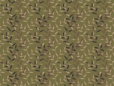 camo: Seamless Leaves Curly Floral Camo Pattern Background