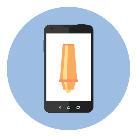 corrector: Mobile Phone With Corrector Tool On The Screen
