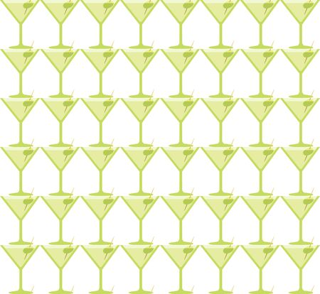 coctail: Seamless Martini Coctail Party Green Glass Pattern