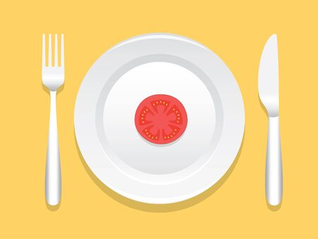 sides: Dinner Plate With Spoon And Fork On The Both Sides