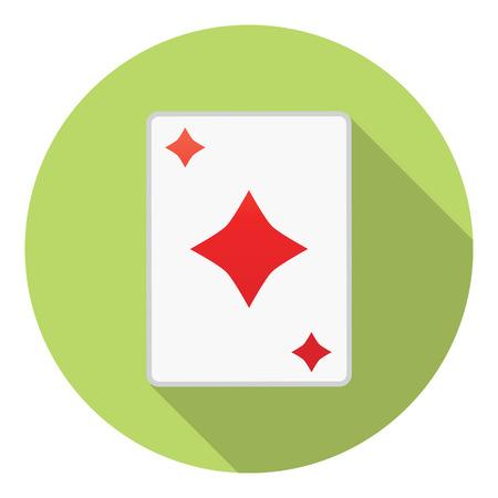 Lesure Games Playing Card Diamonds Suit Symbol Illustration