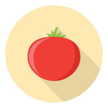 tomato plant: Tomato Vegetable Plant Flat Style Design Symbol